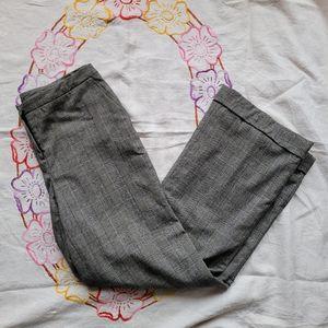 Liz Claiborne Sloane check wool cuffed trousers